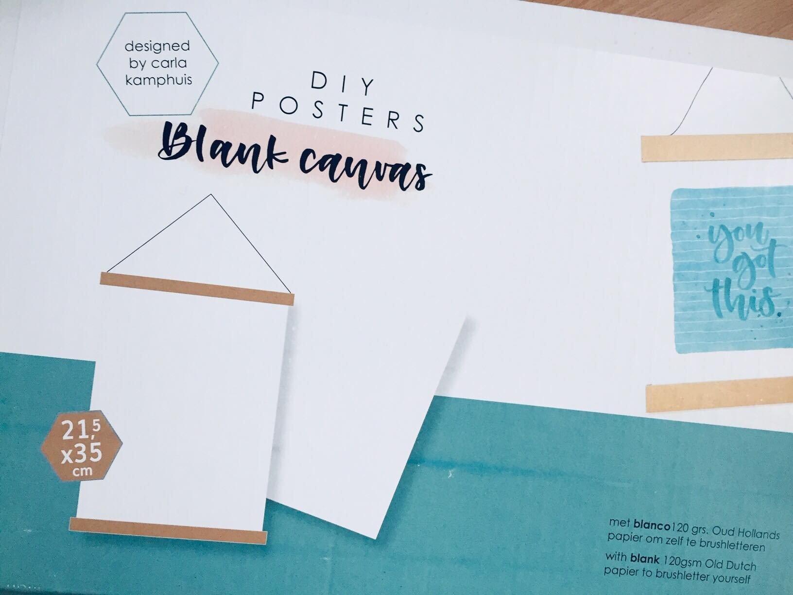 Je eigen posters maken met het DIY posterpakket van Carla Kamphuis!