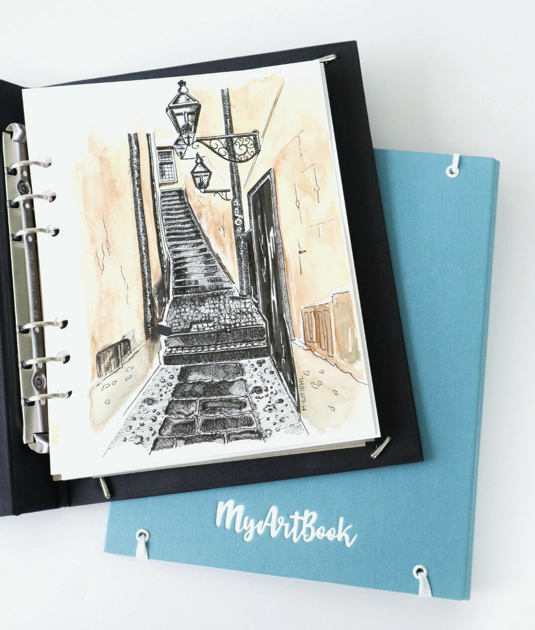 Blog Urban Sketching en MyArtBook door Marion van Ratingen.