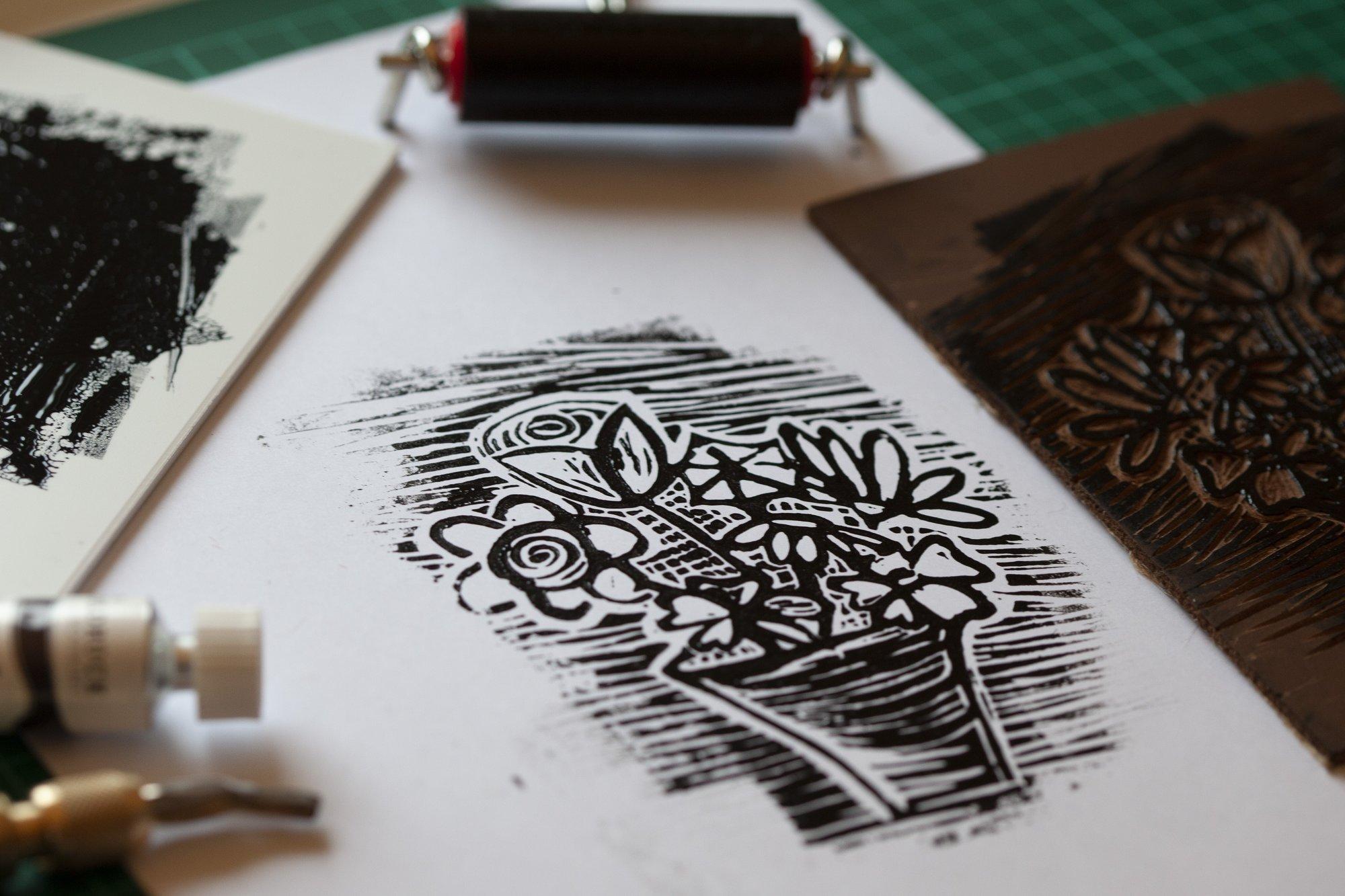 DIY Linolcut starter set A6 - Gutsen